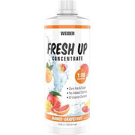 Изотоники Weider Fresh Up Concentrate 1:80, 1 литр Манго-грейпфрут