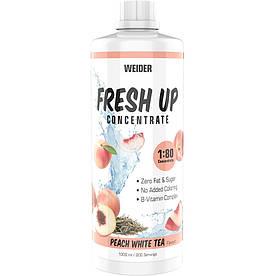 Изотоники Weider Fresh Up Concentrate 1:80, 1 литр Персиковый белый чай