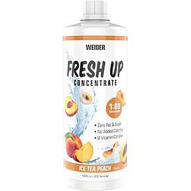 Изотоники Weider Fresh Up Concentrate 1:80, 1 литр Персиковый холодный чай