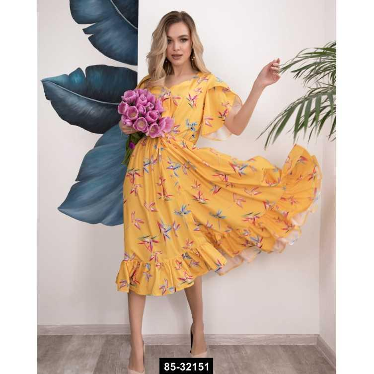 Плаття SA-200 XL жовтий, L ,M ,S ,XL  розмір міжнародний , 85-32151