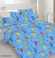 Дитяча постільна білизна в ліжечко -Маквіни на голубому 412dac910f619