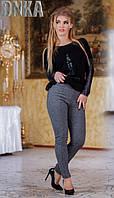 Модные женские лосины трикотаж мягкий теплый