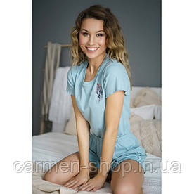 Комплект пижамный из хлопка в рубчик с красивой вышивкой Dobranocka / Doctor Nap 4224