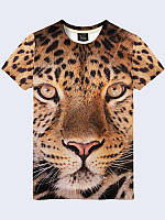 Футболка 3D Леопард
