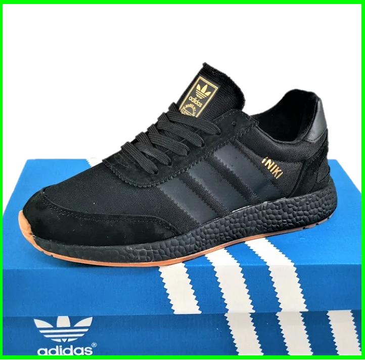 Кросівки Чоловічі Adidas Iniki Runner Boost Чорні Адідас (розміри: 41,42,43,44,45,46) Відео Огляд