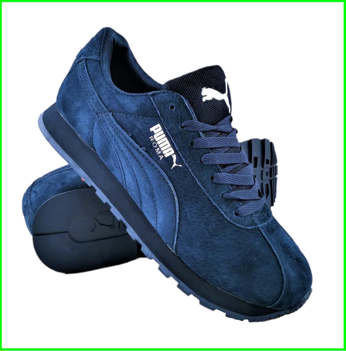Мужские Кроссовки PUMA Roma Синие Замшевые Пума (размеры: 41,42,43,45,46)