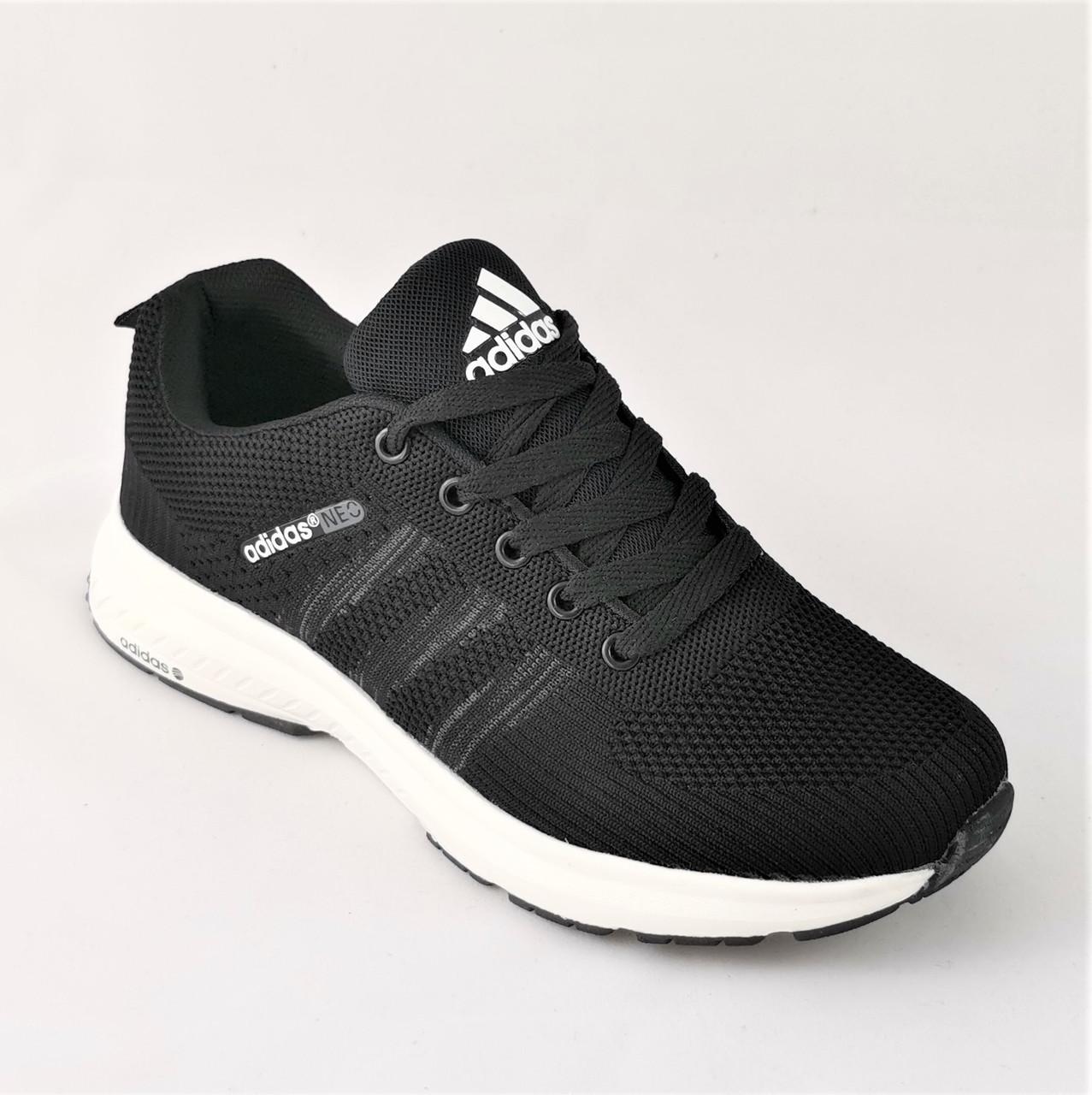 Кроссовки мужские в стиле Adidas Neo Чёрные Адидас Мужские (размеры: 40, 41, 42, 43, 44, 45)