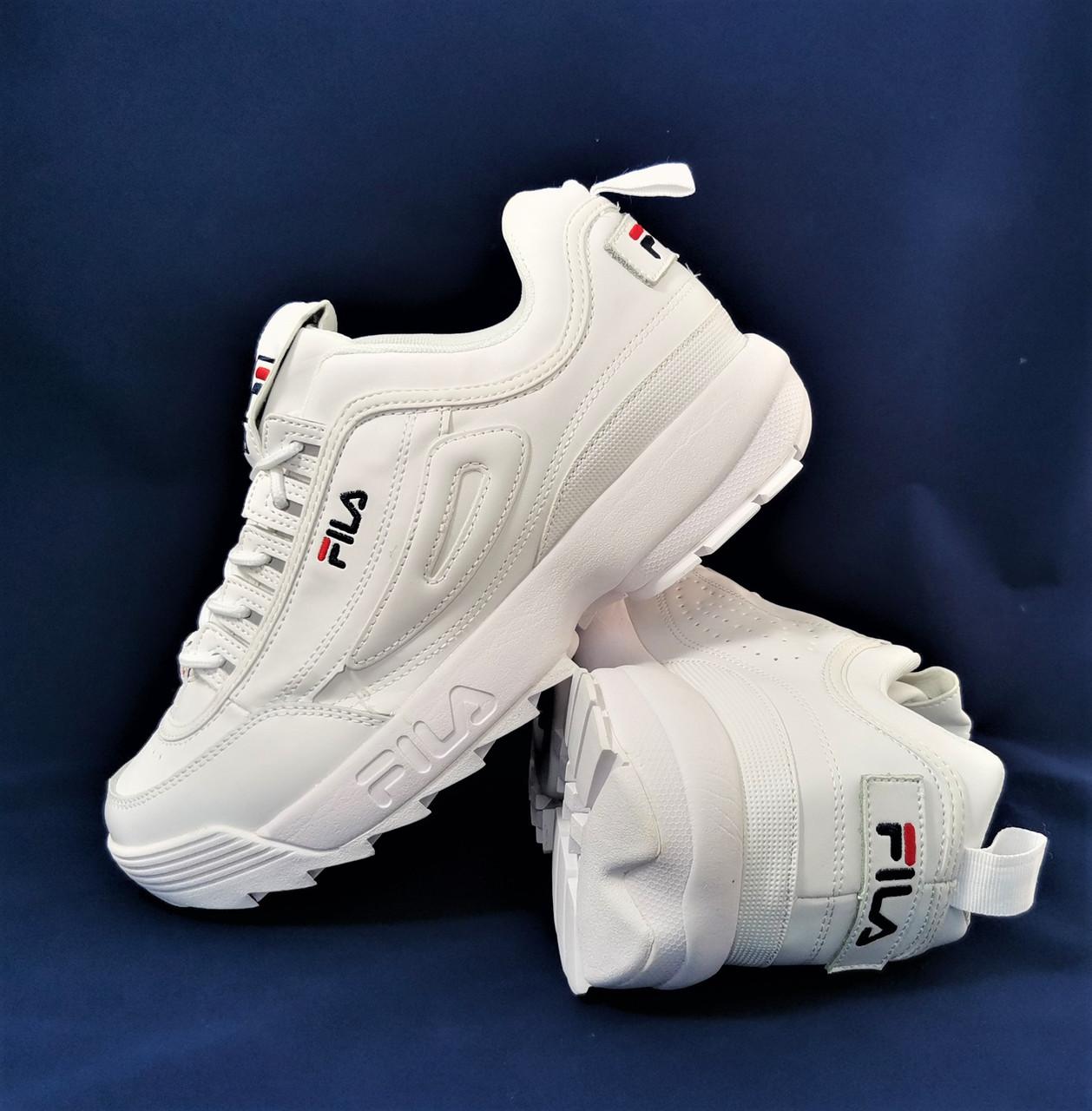 Чоловічі Кросівки Fila Disruptor Білі Філа (розміри: 41,42,43,44,45) Відео Огляд