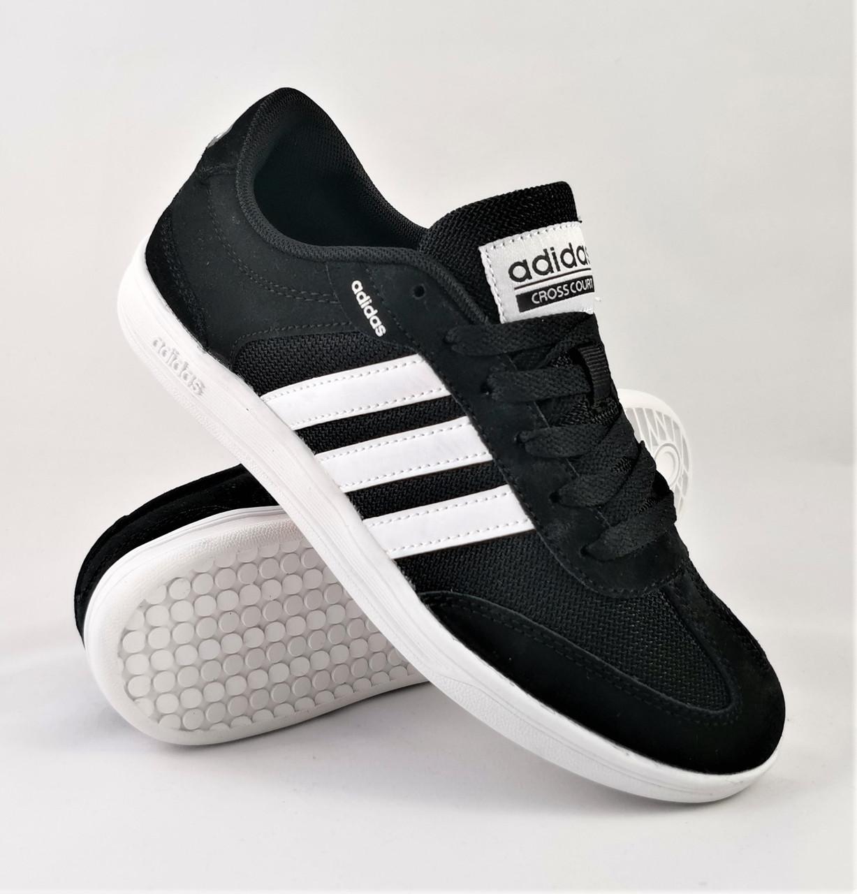 Кросівки Чоловічі в стилі Adidas Neo Чорні Адідас (розміри: 41,42,43,44,45,46)