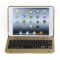 Чехол клавиатура Aluminum Alloy Bluetooth для Apple iPad mini 4 золотой