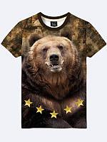 Футболка 3D Ведмідь