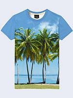 Футболка 3D Пляж і пальми, фото 1