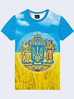 Футболка 3D чоловіча Герб України, фото 1