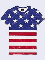 Футболка 3D Американський прапор, фото 1