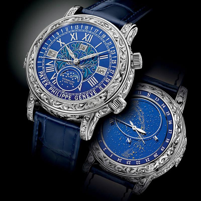 Часы Patek Philippe Sky Moon New Blue мужские - watchme.com.ua в Киеве