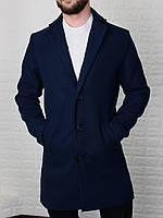 Пальто мужское демисезонное кашемировое Men's синее | Мужское пальто весеннее осеннее ЛЮКС качества
