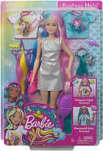 Лялька Барбі Фантазійні образи Фантазія волосся Русалка і Єдиноріг Barbie Fantasy Hair Dol Blonde GHN04