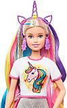 Лялька Барбі Фантазійні образи Фантазія волосся Русалка і Єдиноріг Barbie Fantasy Hair Dol Blonde GHN04, фото 5