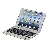 Чехол клавиатура Aluminum Alloy Bluetooth для Apple iPad mini 4 серебряный