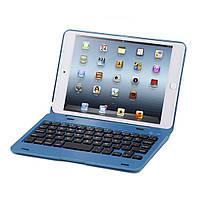 Чехол клавиатура Aluminum Alloy Bluetooth для Apple iPad mini 4 синий