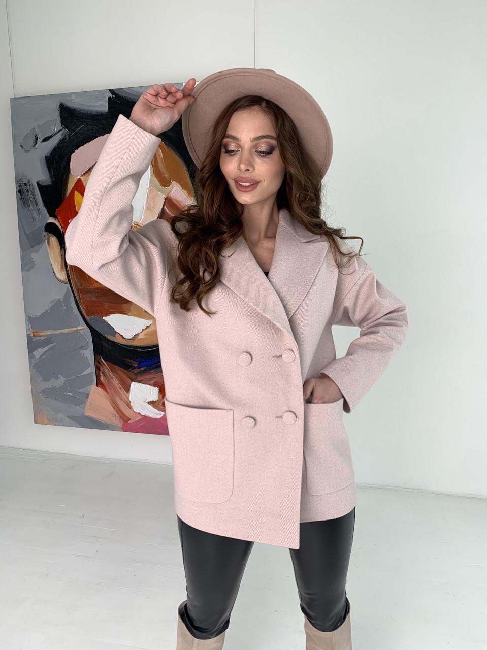 Модне вовняне пальто демісезонне Мансера 10627