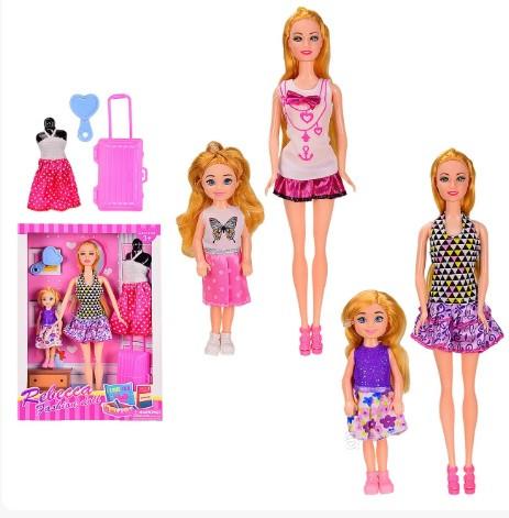 KM8807D Кукла типа Барби с дочкой кукла мини – 14 см, с аксессуарами, в коробке 23*5.5*33 см