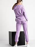 Спортивний костюм жіночий бузковий, фото 4