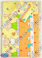 Детское постельное белье в кроватку, постельный комплект (баранчик оранжевый)