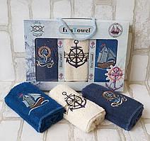 Набір махрових рушників у коробці (3 шт) 30x50 Firs Towel для кухні