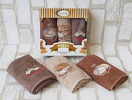 Набір махрових рушників у коробці (3 шт) 30x50 Gulkan для кухні