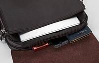 Мужская кожаная сумка Polo. Модель 0439, фото 5