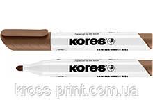 Маркер для белых досок KORES 2-3 мм, коричневый