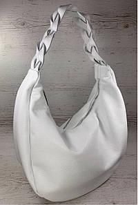 610 Натуральная кожа Объемная женская сумка белая Кожаная сумка-мешок белая кожаная сумка на плечо хобо