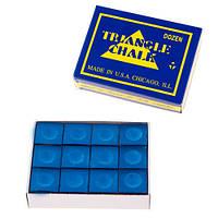 Крейда для більярду Triangle 12шт синій TR12