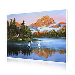 Картина по номерам Lesko RSB-8178 Утро на озере 40-50см 4771-14660, КОД: 1931149