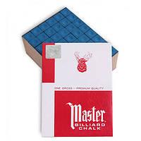 Крейда більярдний Master 144шт синій M144
