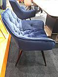Стілець CHERRY Velvet синій Signal (безкоштовна доставка), фото 2