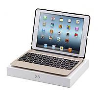 Чехол клавиатура Metal Skin Wireless Bluetooth для Apple iPad Air 2 золотой