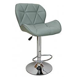 Барний стілець зі спинкою Bonro B-868M сірий