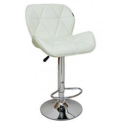 Барный стул со спинкой Bonro B-868M белый