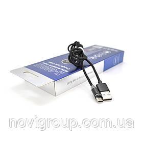 Магнітний кабель PiPo USB 2.0 /Type-C, 1m, 2А, тканинна оплетка, броньований, знімач, Black, BOX