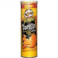 Кукурузные чипсы Pringles Tortilla nacho cheese 180 г., фото 1