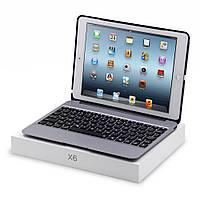 Чехол клавиатура Metal Skin Wireless Bluetooth для Apple iPad Air 2 серый