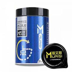 Набор презервативов с повышенным количеством смазки 0.02 мм Blue, 12 шт