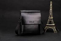 Мужская кожаная сумка-барсетка Polo. Модель 0441, фото 2