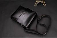 Мужская кожаная сумка-барсетка Polo. Модель 0441, фото 6