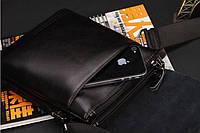 Мужская кожаная сумка-барсетка Polo. Модель 0441, фото 8
