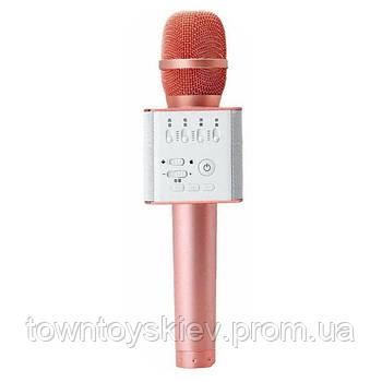 Мікрофон для караоке Q9 (Рожеве золото)