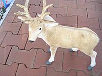 Фигура   Новогодний Олень с золотыми рогами