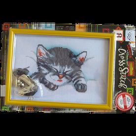 Набор для творчества Danko toys Вышивка крестиком Кошечка спит